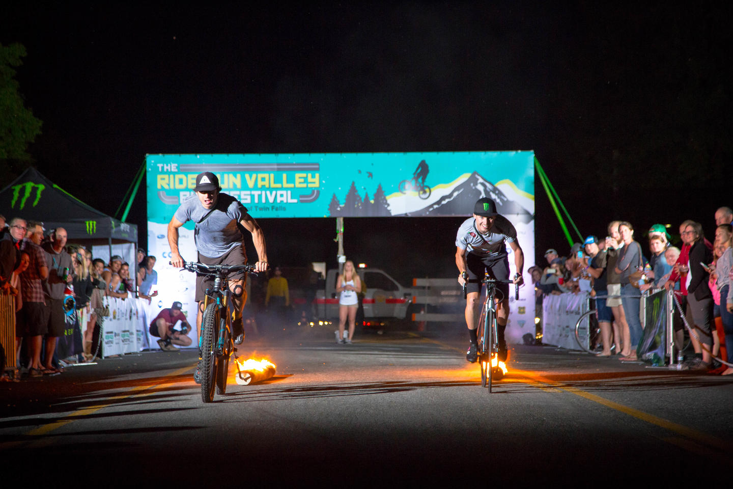 night time bike races in Sun Valley Bike Festival