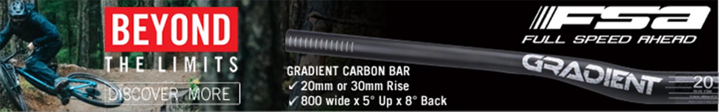 Full Speed Ahead Gradien Carbon Riser bars - the best in the business