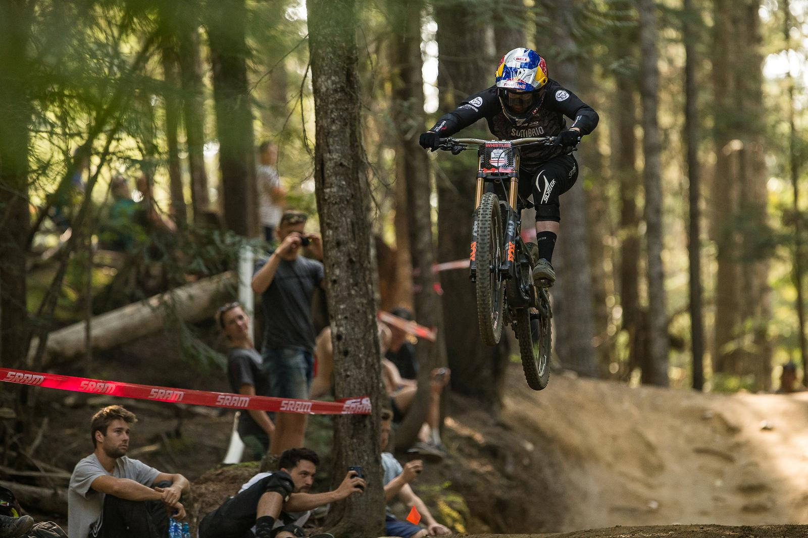 Kitner winning at crankworx