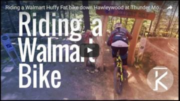 Can a Walmart Huffy survive a Pro Downhill Run?