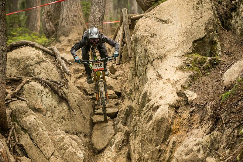 Crankworx in Full Swing with a legend and a local taking top spots in Garbonzo DH
