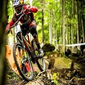 Atherton Train Stopped on Mont Saint-Anne UCI Downhill Race