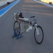 Rocket Powered Bike goes 333kph - Shoots Ebike out exhaust-VIDEO