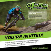 Cannondale Lefty  fork celebrates 15 year anniversary