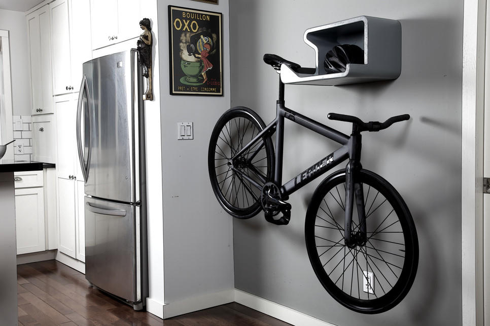more new thinking the shelfie indoor bike storage