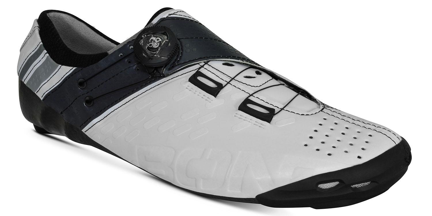 white Bont helix cycling shoes